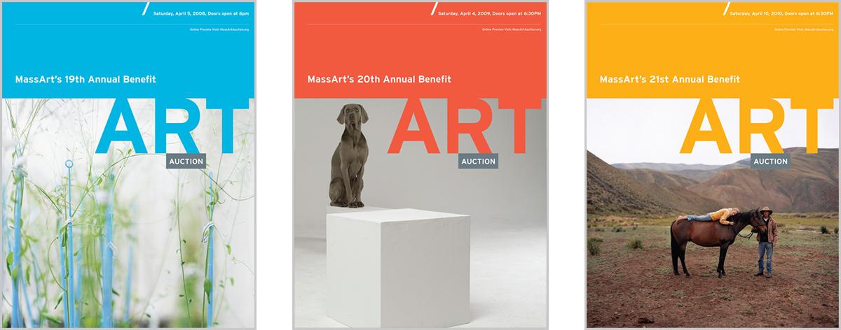 MassArt Auction Catalogue Covers