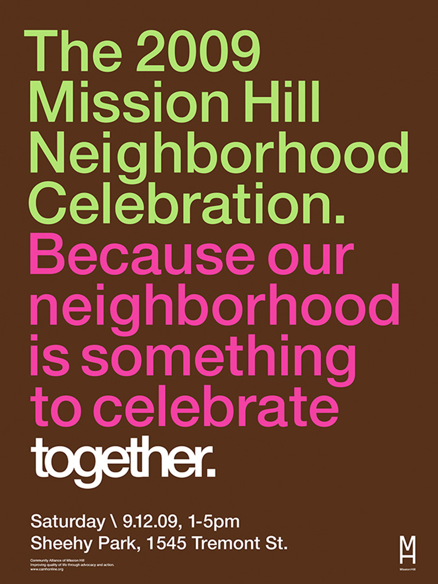 2009 Mission Hill Celebration Poster