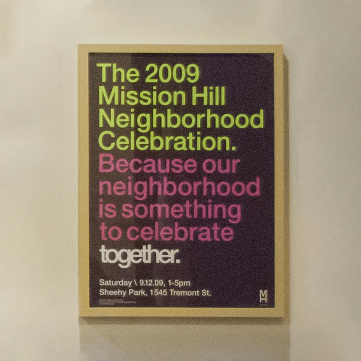 2009 Mission Hill Neighborhood Celebration Poster