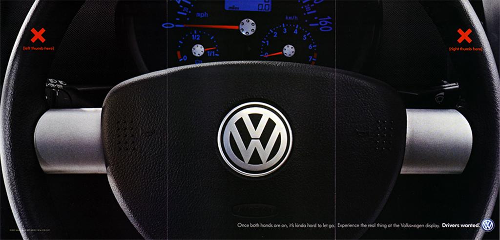Volkswagen Steering Wheel Ad